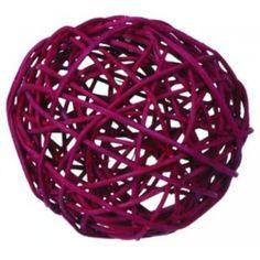 Boule en rotin bordeaux, 4 boules en rotin bordeaux 9 cm, déco de table, décoration, mariage, fêtes, noël. http://www.baiskadreams.com/1076-boules-rotin-bordeaux-9-cm-les-4-.html