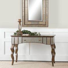 Almont Mirrored Console Table - Overstock™ Shopping - Great Deals on Coffee, Sofa & End Tables