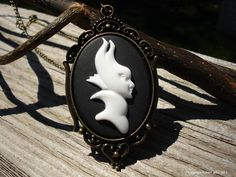 Maleficent Movie Cameo Necklace Victorian Disney by AOSDESIGN, $8.00