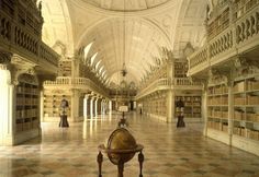 Mafra Library, Portugal  - Photo by Will Pryce Is This the Most Awesome Library in the World?  By Johann Thorsson, BOOKRIOT  We have previously established that Portugal has the most beautiful bookstore in the world, but now it appears they also get the most awesome library. I came a cross a rather amazing one the other day, the library at Mafra National Palace in Portugal. The palace was built by a king who vowed to create it if his wife gave him descendants, which she did.