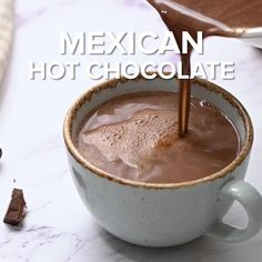 Hot Chocolate Cocoa Powder, Hot Cocoa Recipe With Cocoa Powder, Cocoa Powder Recipes, Cocoa Recipes, Hot Chocolate Bars, Milk Recipes, Chocolate Coffee, Mexican Food Recipes, Dessert Recipes