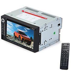 2 Din Lettore DVD Doppio Din Car Audio Video Player Touch Screen DVD VCD MP5 MP4 MP3 Multimedia Player Supporto Bluetooth FM