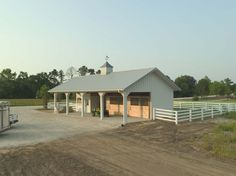 Morton Buildings horse barn in Florida. This is exactly what Darrell and I will need.