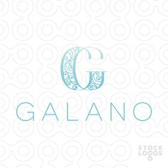 "Luxurious, modern and fancy design of a letter ""G"". The G design is made with a modern ornate flourish design within the G. Like very simple elegant font Typography Design, Logo Design, Graphic Design, Luxury Logo, Letter G, Jewelry Logo, Wedding Logos, Hanoi, Flourish"