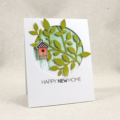 Happy New Home Card by Lizzie Jones for Papertrey Ink (August 2015)