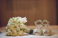 Novia: María Lucila Gabelich Zapatos: Laila Frank. #LailaFrank #shoes #design  #party #Bride #Bridal #Wedding #novia #boda #casamiento #zapato #tacos #elegant #style #Love
