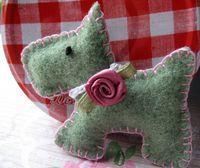 Wool Felt Brooch by RubyRed06, via Flickr