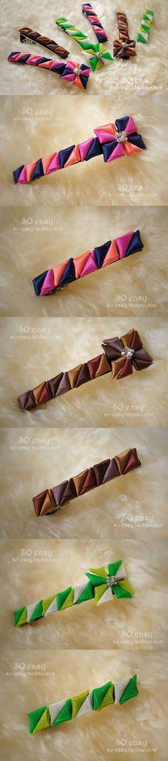 This Pin was discovered by Lau Ribbon Art, Ribbon Hair Bows, Diy Ribbon, Ribbon Crafts, Headband Tutorial, Diy Headband, Baby Headbands, Kanzashi Flowers, Diy Flowers