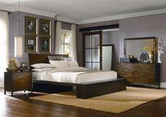 Kateri Contemporary Hazelnut Master Bedroom Set