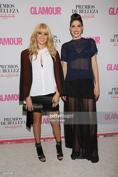 Ashley Grace Pérez and Hanna Nicole of Ha-Ash attend premios de belleza Glamour 2014 at salon Mayita on February 19, 2015 in Mexico City, Mexico.