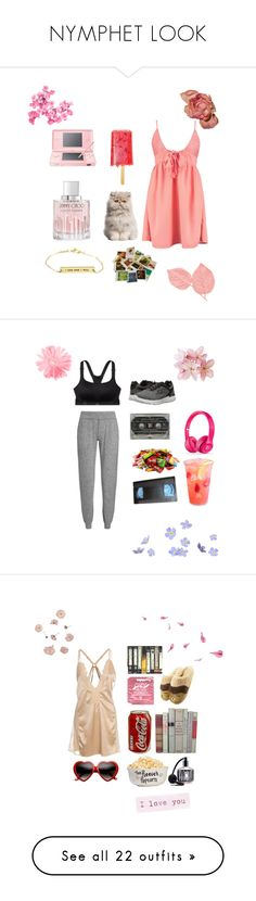 """""""NYMPHET LOOK"""" by nymphet-adriana-guga ❤ liked on Polyvore featuring Boohoo, Nintendo, Jimmy Choo, Chronicle Books, Victoria's Secret, Sweaty Betty, Skechers, Hot Anatomy, Pons Quintana and Love Moschino"""