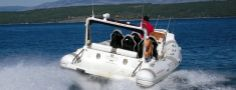 Motor Rib in Sea