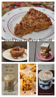 These delicious pumpkin desserts and beverages are all grain free and gluten free! Pumpkin is one of the reasons I love fall as it makes such delicious food! Find recipes for pumpkin pie, pumpkin bars, pumpkin coffee cream and more!