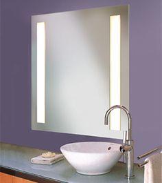 Pics On lighted bathroom mirror violet