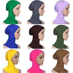 Modal Muslim Headscarf Full Cover Inner Hijab Cap Islamic Hat Underscarf Arab