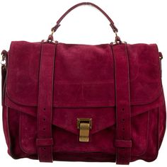 Pre-owned Proenza Schouler Medium PS1 Satchel ($795) ❤ liked on Polyvore featuring bags, handbags, burgundy, satchel purses, burgundy leather handbags, hand bags, leather satchel and burgundy handbags