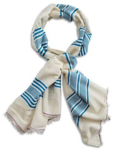 BLUE STRIPE SCARF | Lucky Brand