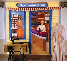 Sewing Nook Memory Care Murals Janice Wagner