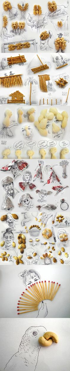 funny-drawing-popcorn-scissors-coffee-mugs-nuts-lettuce