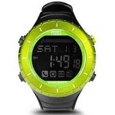 """Waterproof Bluetooth 4.0 Smart Watch for iPhone and Android Above System MobilePhone APP (Black + Green) RS1503004P. Super Waterproof--- Water-resistant to 100M, super living waterproof. It can be worn while swimming, let you exercise with more confidence. Bluetooth Camera--- In the user mode PIC state, press """"A"""" to perform remote cell phone photo shooting function. Allowing you to feel the nature outdoor, leaving preciouse moments. Presicion Stopwatch--- When participating in outdoor…"""