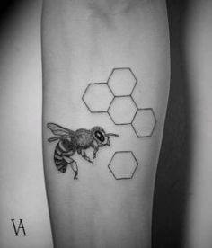 Bee and Honeycomb by Violeta Arús