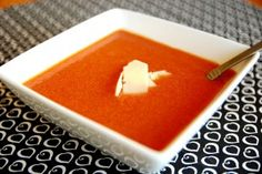 Nordstroms slow cooker tomato basil soup ...yummy!