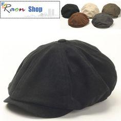 Men Gatsby Eight Panel Newsboy Ivy Cap Black Flat hat Style Cabbie Golf Visor | eBay