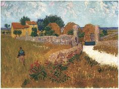 Farmhouse in Provence Vincent van Gogh Painting, Oil on Canvas Arles, France: June, 1888 National Gallery of Art, Ailsa Mellon Bruce Collection Washington D.C., United States of America, North America