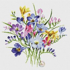 This Pin was discovered by miz Butterfly Cross Stitch, Cross Stitch Borders, Cross Stitch Flowers, Cross Stitch Designs, Cross Stitching, Cross Stitch Embroidery, Embroidery Patterns, Hand Embroidery, Cross Stitch Patterns