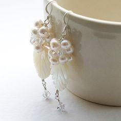 Goddess Earrings  Wedding jewellery / bridal by PoppySparkles, £25.00