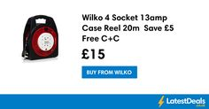 Wilko 4 Socket 13amp Case Reel 20m  Save £5 Free C+C, £15