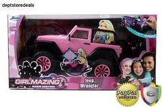 Big Foot Jeep RC Vehicle Remote Control Toys Teen Girl Barbie Doll Car Kid Pink