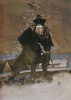 Sweet looking illustration of Robert E. Howard's Solomon Kane by Jeff Jones