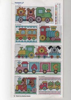 PATRONES (BABEROS) Cross Stitch For Kids, Cross Stitch Borders, Cross Stitch Baby, Cross Stitch Animals, Cross Stitch Charts, Cross Stitch Designs, Cross Stitching, Cross Stitch Embroidery, Embroidery Patterns