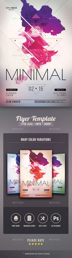 Minimal Flyer — Photoshop PSD #white #club • Available here → https://graphicriver.net/item/minimal-flyer/10477158?ref=pxcr