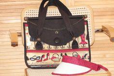 Tasche Fashionista 30 x 40 x15 cm. Eleganter City-Shopper mit Überschlagklappe und Magnetverschluss.