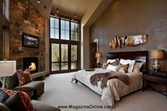 Delicieux 19 Divine Master Bedroom Design Ideas | MagazinaOnline.com Large Bedroom  Layout, Rustic Master