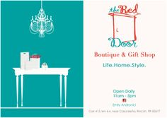 The Red Door Boutique & Gift Shop offers items from all over the world bringing you an inspiring collection of eclectic jewelry, bags, home decor and more.  See more at www.surfrinconpr.com