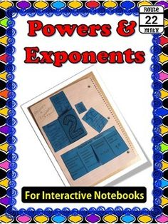 Grab this FREEBIE while it lasts. This quick and easy interactive notebook activity supplements lessons on powers and exponents. It includes spaces to add vocabulary for base, power, and exponent. It also includes four flip and solve practice problems.