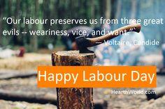 """God sells us all things at the price of labor."" ~Leonardo da Vinci Happy Labour Day!"