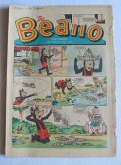 Vintage BEANO Comic Lot of 4 1970's Classic British by TOYPLANET, $15.00 Etsy