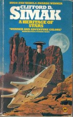 A Heritage of Stars (1977) by Clifford D. Simak. 1979 cover by Chris Moore.