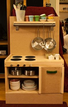 Play kitchen by JerryBones, via Flickr