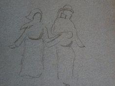 """GAUGUIN - Couple de Paysans bretons,Tête d'Homme et Tête de Femme (drawing, dessin, disegno-Louvre RF29877.41) - Detail 6  -  TAGS : personnage figure figures people personnes art painter peintre details détail détails """"dessins 19e"""" """"19th-century drawings"""" """"19th century"""" """"details of drawing """" """"details of drawings"""" croquis étude study sketch sketches couple paysans Bretons """"paysans bretons"""" """"breton peasants"""" peasant peasants man men homme chapeau hat femme woman women love amour tête head…"""