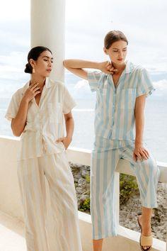 Night Suit For Girl, Night Dress For Women, Sleepwear Women, Pajamas Women, Lounge Pants, Lounge Wear, Nautical Fashion, Nautical Style, Pajama Outfits