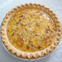 "Country Quiche | ""Bacon, eggs, and cheese, all blended in a pie crust!"" - Angela"
