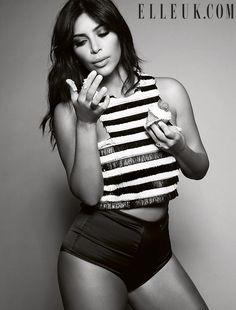 Kim Kardashian Stays Covered For Elle UK's Confidence Issue