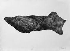 """Witold Winek """"uoXI"""", 78X106, relief print, 2014"""