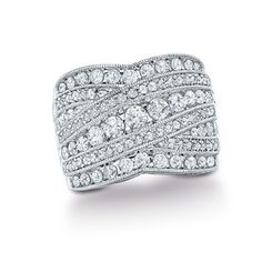1-1/2 CT. T.W. Diamond Crossover Band in 10K White Gold - Zales