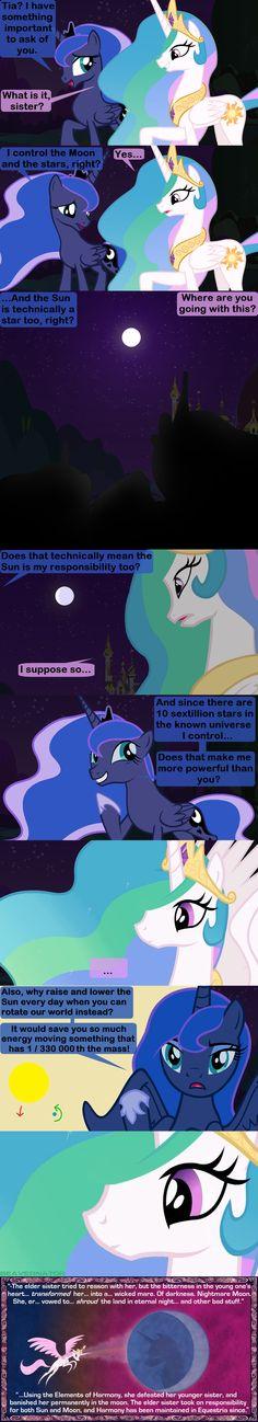 What Really Happened Before Luna's Banishment by Beavernator.deviantart.com on @deviantART
